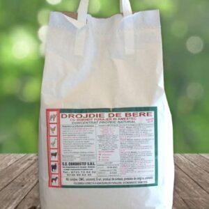 Drojdie de bere si borhot furajer 5 kg; Concentrat proteic din drojdie de bere si borhot furajer; Prebiotic si dietetic; furaje Agrimanet online