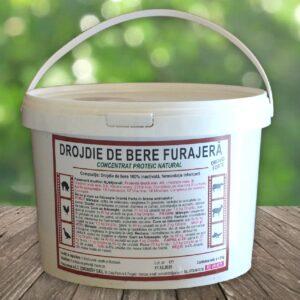 Drojdie de bere furajera 2 kg sub forma granule de culoare brun-deschis, cu gust amarui, avand mirosul si aroma specifice de drojdie; furaje online
