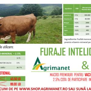 macropremixuri vitamino-minerale vaci de lapte